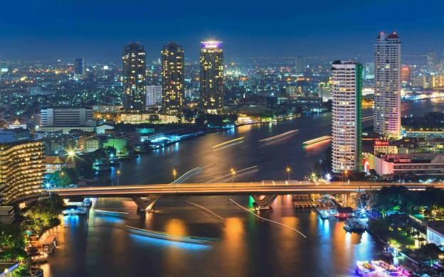 Riverside in Bangkok, Thailand
