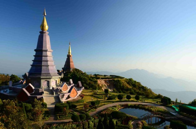 Mountain Temple in Chiang Mai, Thailand